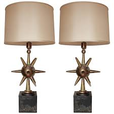 stunning pair of solid brass lamps by arturo pani mexico city 1950 s