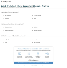 quiz worksheet david copperfield character analysis com print david copperfield character analysis overview worksheet