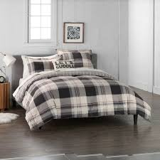 cuddl duds home gray lodge plaid 4