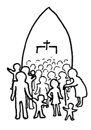Small Picture Family going to church together clipart collection