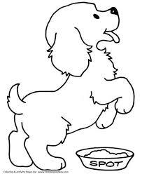 Cute Puppy Pet Dog Coloring Page Knutsel Kleurplaten Huisdier