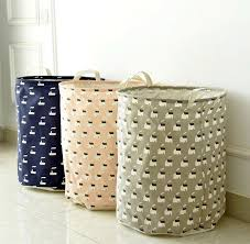 Free Shipping Home Decorative Classical Cute Zakka Type Linen Laundry Basket  Storage Basket Bag Organization For