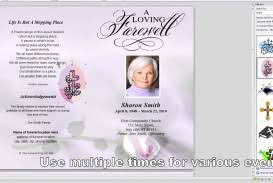 019 Free Obituary Program Template Download Downloadable Funeral