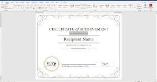 Sample Certificate Award 010 Template Ideas Certificate Award Microsoft Word Capture