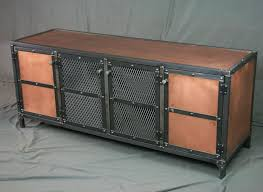 vintage entertainment center. Modren Vintage Custom Made Industrial Copper Sideboard Buffet Media Console  Vintage  Entertainment Center Tv Throughout Center E