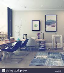 eclectic home office alison. Open Concept Home Office Space With Eclectic Furnishings In Modern Alison S