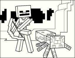 25 minecraft coloring page