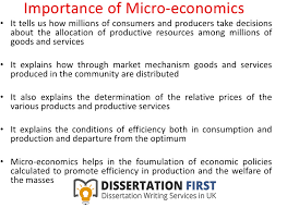 Analysis from a microeconomics view dissertation example