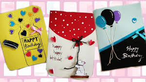 diy how to make simple and easy birthday greeting cards
