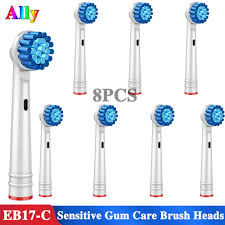 8PC Electric Toothbrush heads <b>Sensitive</b> Gum Care Replacement ...