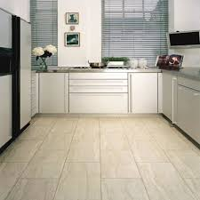 white kitchen tile floor. Tile Flooring Ideas For A Comfortable And Beautiful Home: White Kitchen With Floor