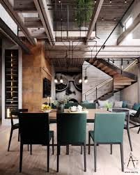 this city house in minsk belarus is 151m2 of modern loft style designed by vae the interior is decked out with metal and concrete industrial features