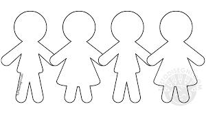 Bambini Stilizzati Da Colorare Migliori Pagine Da Colorare