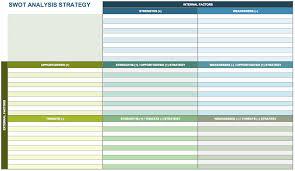 Swot Analysis Table Template Swot Excel Template Rome Fontanacountryinn Com