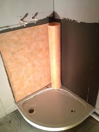 waterproofing a shower waterproof shower membrane bathroom waterproofing membrane tanking a shower with waterproof red guard waterproofing a shower