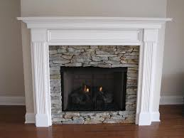 Uses both stone and wood sides -Leesburg Wood Fireplace Mantel - Custom