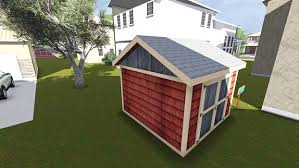 10x10 garden shed plan side view
