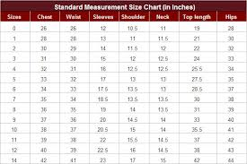 Indian Blouse Size Chart Size Chart