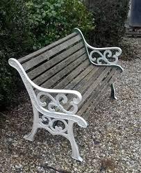 garden bench seat cast iron ends wooden slats wood chair