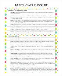 Baby Shower Party Checklist Baby Shower Check List Jwintz