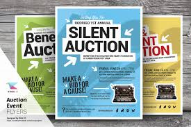 silent auction program template auction event flyer templates flyer templates creative market