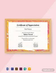 27 Free Appreciation Certificate Templates Word Psd