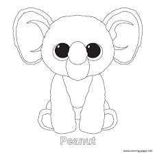 Peanut Beanie Boo Coloring Pages Printable