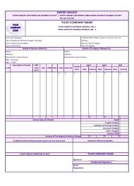Sample Of Commercial Invoice Form Export Template Format In Word