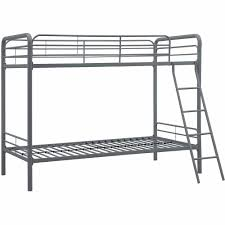 Twin Over Twin Metal Bunk Bed with Mattresses Walmart