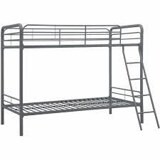 Bunk Beds Twin Over Twin Metal Bunk Bed With Mattresses Walmartcom