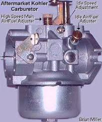 information about small engine carburetors various fuels and fuel 10 18hp kohler or carter model n carburetor
