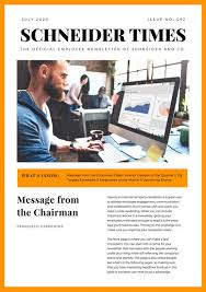 Interior Design Newsletter Awesome Orange And White Minimalist Employee Newsletter Templates By Canva