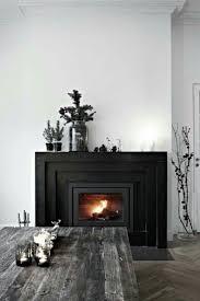 black fireplace and mantel styling