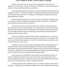 how to start a compare and contrast essay sample cover letter  a comparison essay example format example compare contrast essay write my format essay