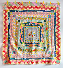 every time she adds another row i love this more and more... hand ... & Hand-Pieced Medallion Quilt by Carrie Strine. Adamdwight.com