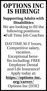 Compare minnesota dental insurance plans and select the dental plan designed to meet both your dental care needs and budget. Full Time Job Coaches Options Inc Big Lake Mn
