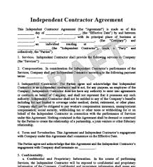 1099 Agreement Template Real Estate Independent Contractor Agreement