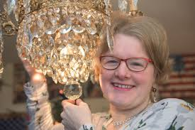 woman gets engaged to 90 year old chandelier