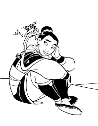 Small Picture Free Printable Mulan Coloring Pages For Kids
