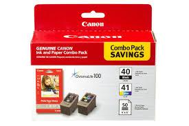 Canon <b>PG-40</b>/<b>CL-41</b> Combo <b>Ink</b> Pack with Photo Paper Glossy (50 ...