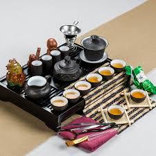 Chinese Dragon Kung Fu Tea Set Include Yixing Purple Clay Teapot Tea
