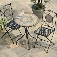 outdoor metal table set. Patio Bistro Table Set New Metal Furniture Mosaic Google Outdoor High And Chairs