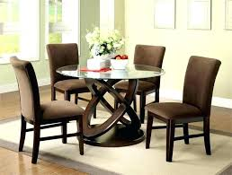 small glass dining room table modern round glass dining table impressive room design top for small