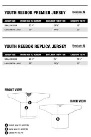 Reebok Jersey Size Chart Nhl Youth Jersey Size Chart Kasa Immo