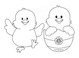44 Easter Chicks Coloring Pages Baby Chick With Flowers Free N
