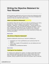The Best Objective For Resumes Resume Resume Objective Samples Economiavanzada Com