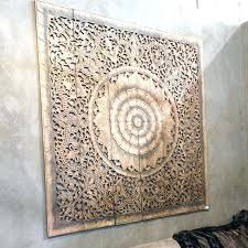 carved wooden wall decor india