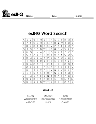 eslHQ - Create ESL Worksheets in Seconds with the Worksheet Wizard