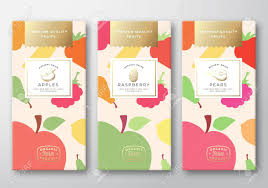 Fruit Box Packaging Design Dried Fruits Label Packaging Design Layout Collection Abstract