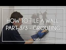 Grouting wall tile White How To Tile Wall 33 Grouting The Wall Tiles Youtube How To Tile Wall 33 Grouting The Wall Tiles Youtube
